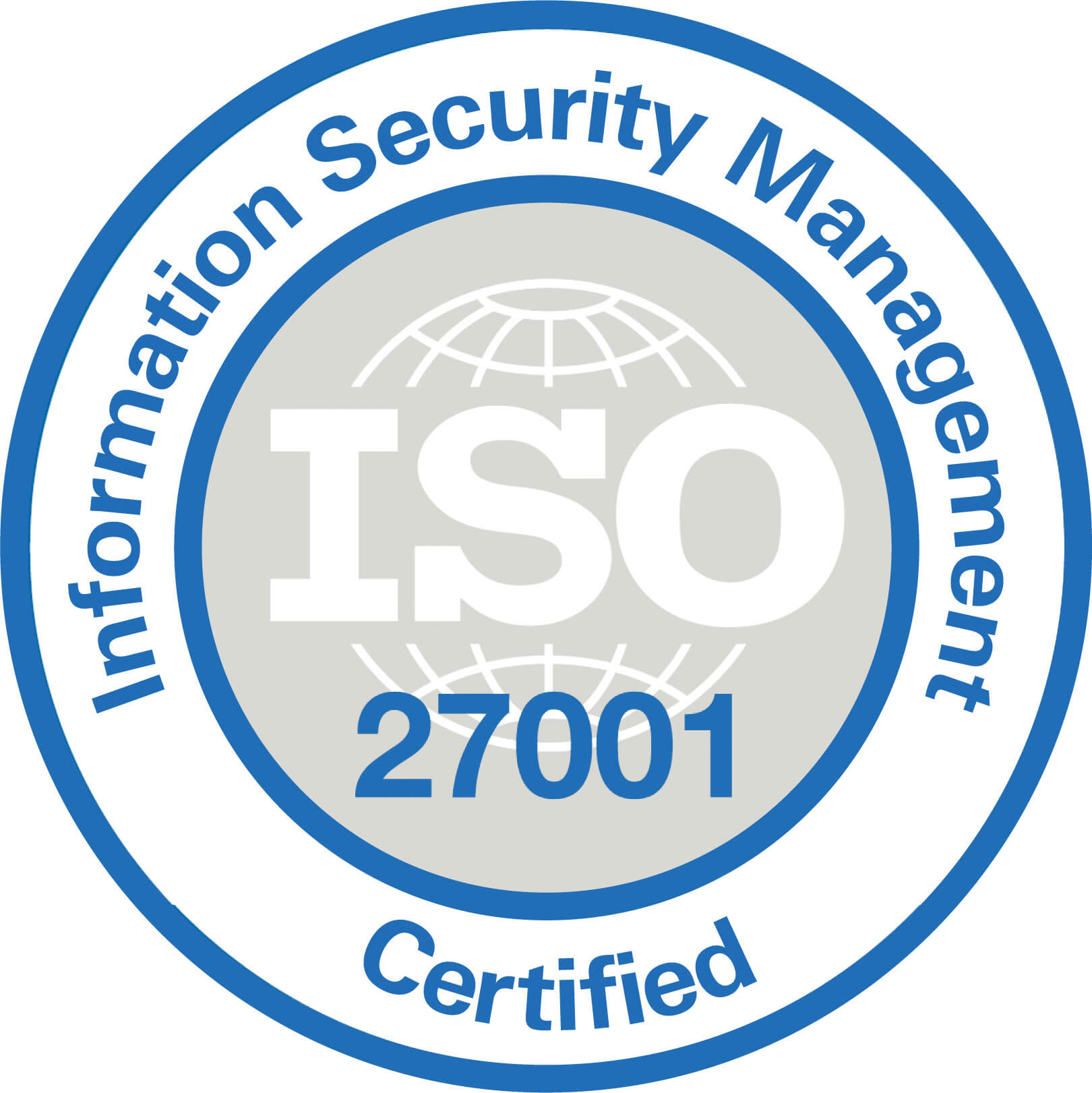 Information security management certified logo