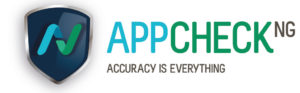 App Check, accuracy is everything logo